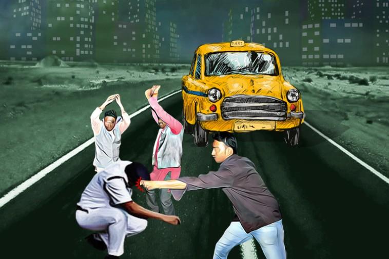 কলকাতায় ফের পুলিশ নিগ্রহ, ট্যাক্সি চালক-আরোহী মিলে বেধড়ক মার