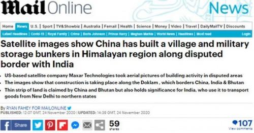 হিমালয়ের বিতর্কিত সীমান্তে গ্রাম নির্মাণ করছে চীন